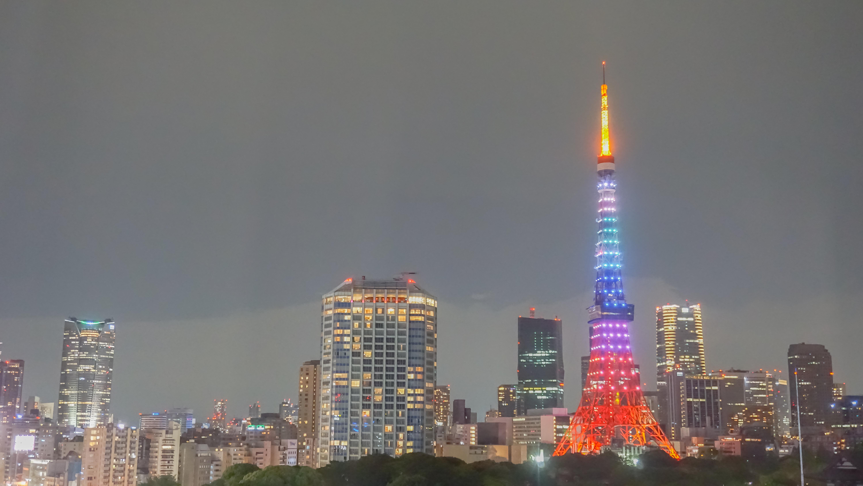 traveling around japan, tokyo tower at night, tokyo tower pride